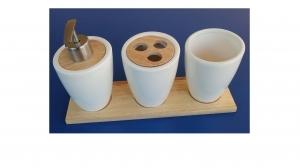 Набор аксессуаров для ванной комнаты из керамики  4 предмета
