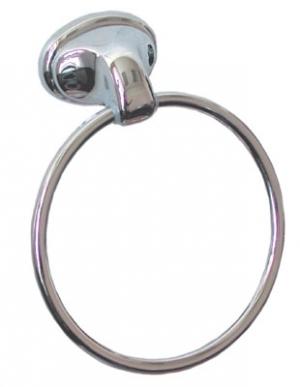"""Полотенцедержатель, вешалка, держатель полотенца в ванную комнату типа """"кольцо"""" хромированный кольцевой (аксессуары   для ванных серии Frog)"""