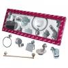Аксессуары (крючки, полотенцедержатели, бумагодержатели, мыльницы) для ванной комнаты и туалета в наборе (подарок новоселу, для новоселья, после ремонта)  серия  Sphera