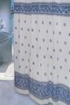 Шторка - занавеска для ванной тканевая полиэстер  Ps-012