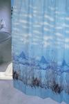 Шторка - занавеска для ванной тканевая полиэстер  Ps-018