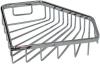 Мыльница (полка) металлическая (латунная) хромированная решетчатая для ванной комнаты пятиугольная