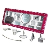 Аксессуары (крючок, полотенцедержатели, бумагодержатель, мыльница) для ванной комнаты и туалета в наборе (подарок новоселу, для новоселья, после ремонта)  серия  Beeze