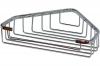 Мыльница (полка) металлическая (латунная) хромированная решетчатая для ванной комнаты треугольная